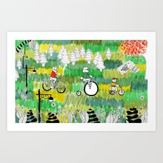 A Day in the Park Art Print
