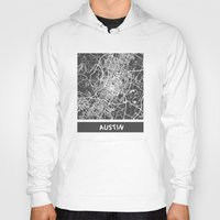 austin Hoodies featuring Austin map by Map Map Maps