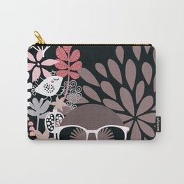 Afro Diva : Sophisticated Lady Pale Pink Peach Taupe Carry-All Pouch