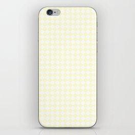 White and Cream Yellow Diamonds iPhone Skin