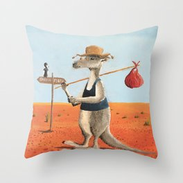 The Traveller Throw Pillow