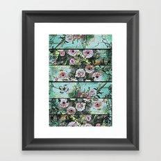 Romantic Rococo wood panel Framed Art Print