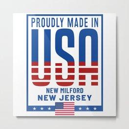 New Milford New Jersey Metal Print