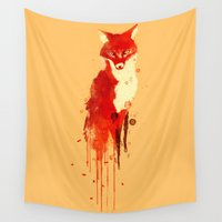 fox Wall Tapestries featuring The fox, the forest spirit by Picomodi