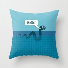 Hello Nessi Throw Pillow