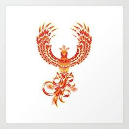Mythical Phoenix Bird Art Print
