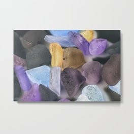 New England beach glass ultraviolet Metal Print