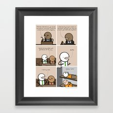 Antics #131 - master of word things Framed Art Print