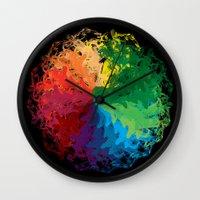 terry fan Wall Clocks featuring Fan by kartalpaf