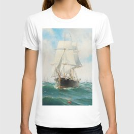 Vintage Swedish Sailboat Painting (1887) T-shirt