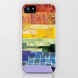 Rainbow Pride Flag (6 Stripe Version) Collage iPhone Case