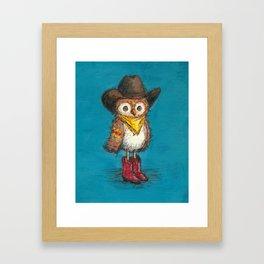 Cowboy Owl Framed Art Print
