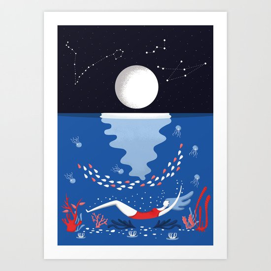 Ocean Flora Art Print