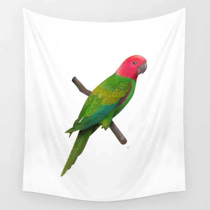 Colorful Parrot 2 Wall Tapestry