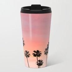 Blushing Palms Metal Travel Mug