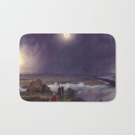 Leander Russ The Solar Eclipse of July 8, 1842 Bath Mat