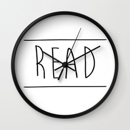 Read Between The Lines Wall Clock