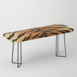 Faux Siberian Tiger Skin Design Bench