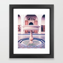 Tiled Moroccan Fountain in a Courtyard Fine Art Print Framed Art Print