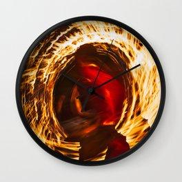 Fire Dancer 1 Wall Clock