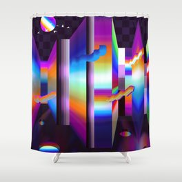 colorful labyrinth Shower Curtain