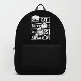 Eat Sleep Motocross Repeat - Motorcycle Motorsport Backpack