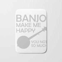 Awesome Banjo's Tshirt Design Banjos Make me happy Bath Mat