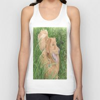 conan Tank Tops featuring Golden Retriever Conan by Yvonne Carter