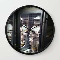spaceman Wall Clocks featuring Spaceman by Brittany Bennett