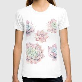 Pink Succulents T-shirt