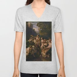 "1853 Classical Masterpiece ""Florinda"" by Franz Xaver Winterhalter Unisex V-Neck"