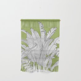 Banana Leaves Illustration - Green Wall Hanging