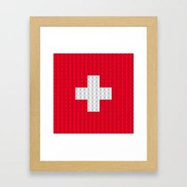 Swiss flag by Qixel Framed Art Print