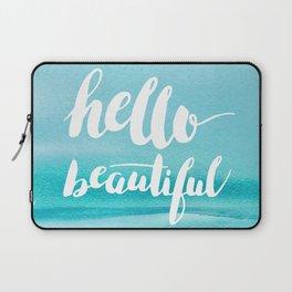 Hello Beautiful Waves Laptop Sleeve