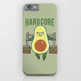 Hardcore Avocado iPhone Case