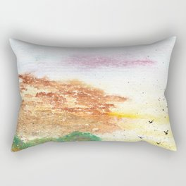 Let's Fly Away Watercolor Painting Rectangular Pillow