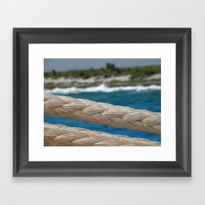 Rope by the sea Framed Art Print
