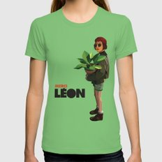 Mathilda, Leon the Professional Grass MEDIUM Womens Fitted Tee