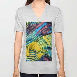 Yellow Thumbprint Unisex V-Neck