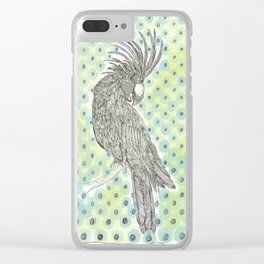 Yellow and blue spotty cockatoo Clear iPhone Case