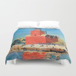 Holland Big Red Focus Duvet Cover