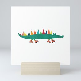Crocodile Colorful Mini Art Print