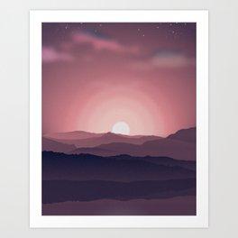 A Red Dawn Art Print
