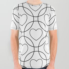 Decor with circles and hearts All Over Graphic Tee