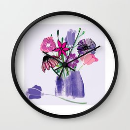 Kaitlyn's Floral Bouquet Wall Clock