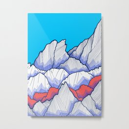 The Ice White Rocks Metal Print
