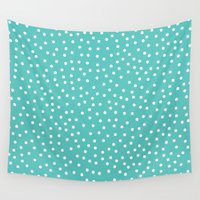dots Wall Tapestries featuring Dots. by Priscila Peress