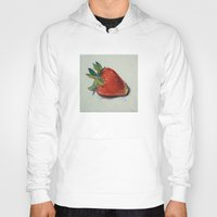 strawberry Hoodies featuring Strawberry by Michael Creese