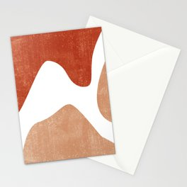 Terracotta Art Print 7 - Terracotta Abstract - Modern, Minimal, Contemporary Print - Burnt Orange Stationery Cards