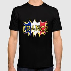 France Mens Fitted Tee Black MEDIUM